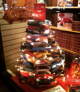 A tree made from books